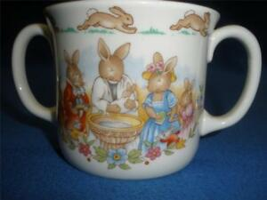 RETRO-BUNNYKINS-ROYAL-DOULTON-1936-PORCELAIN-2-HANDLED-CHRISTENING-CUP