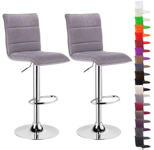 Tabouret de bar de bar 2x de bar tabourets cuir synthétique chaise rembourré 10 couleurs #86