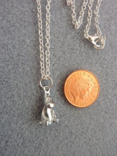 """Moomin Mini 3D Silver Charm Pendant Necklace 18/"""" ChainTroll Birthday Gift # 246"""