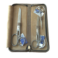 Newdovo 3-pc Complete Scissor Set W/leather Zipper Case, Solingen Germany,