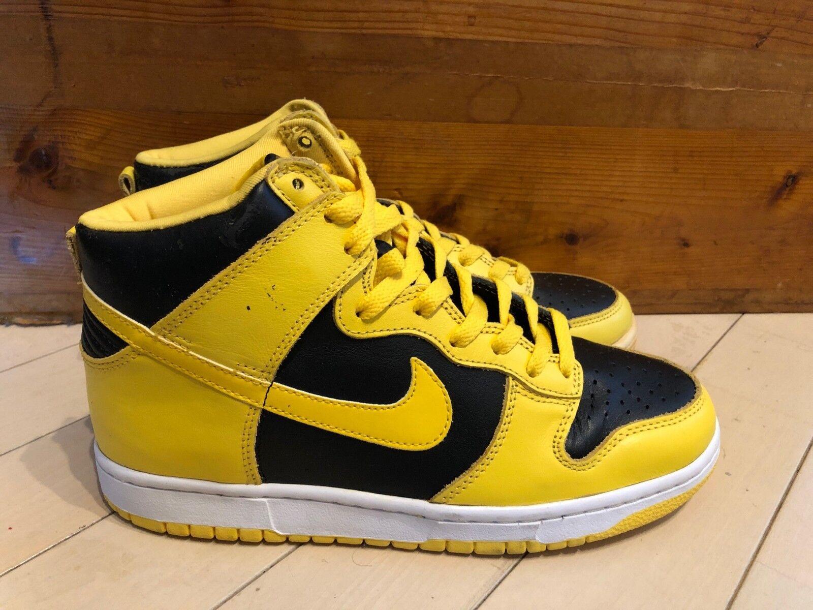 1999 Nike Dunk High LE goldenrod Yellow Black size 8