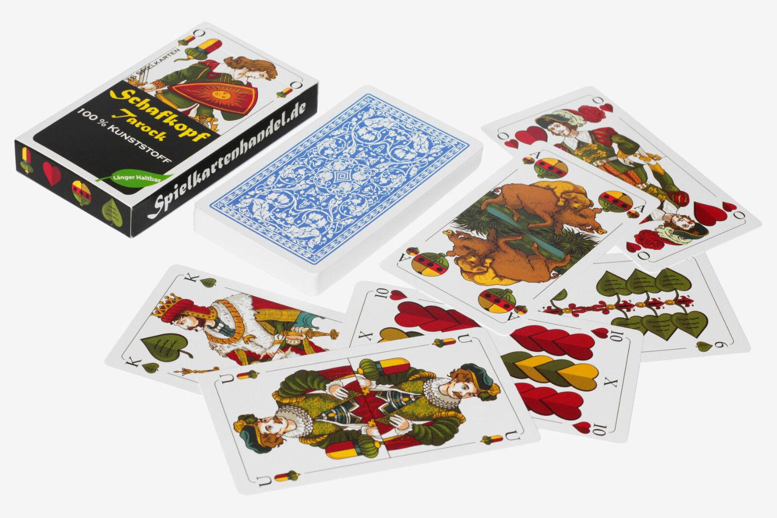 Schafkopf Karten aus 100% Kunststoff bayrisch, (Plastik +) bayrisch, Kunststoff wasserfest fecd6c