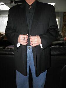 Men's Charcoal Pinstripe Pronto Uomo Sport Coat Blazer Size 50 R