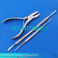 Double End Ingrown Toenail Lifter Toe Nail File With Toe Nail Corner/side Cutter
