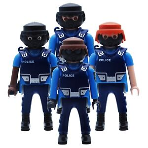 playmobil-4-Varianten-Polizei-Polizist-SEK-Schutzweste-Maske-blau
