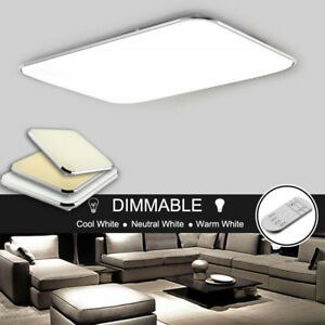 Dimmable-Slim-LED-Ceiling-Mount-Light-Cool-Warm-White-Bedroom-Living-Room-Lamp