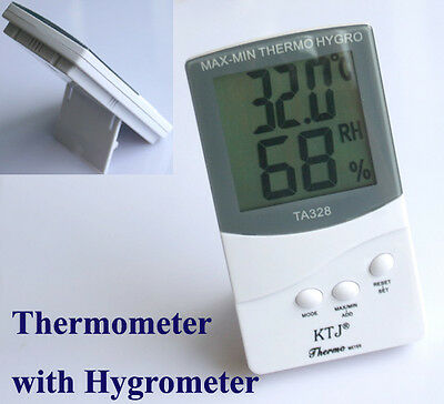 Digital LCD °C /°F Thermometer Hygrometer Wetterstation Weiß
