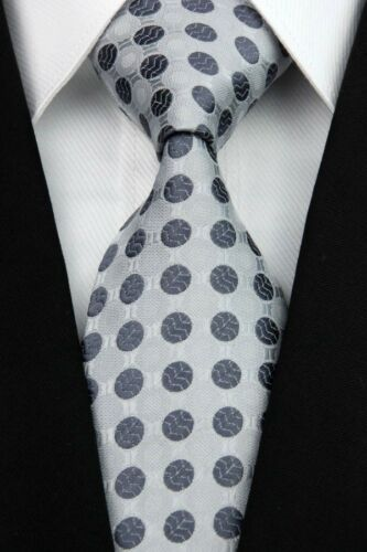 Blue Gray Black Purple Pink Red Polka Dot New Business 100/%Silk Men Tie Necktie