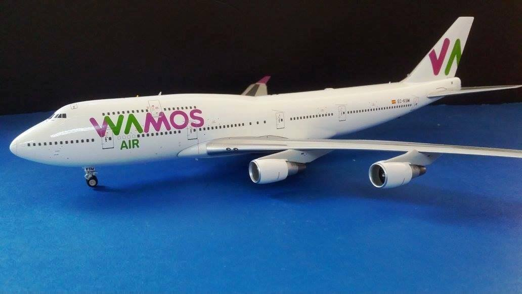 JFOX JF7474044 1 200 BOEING 747-400 WAMOS AIR EC-KSM WITH STAND