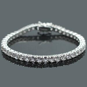 4-mm-Round-Cut-Natural-Morganite-Gemstone-925-Sterling-Silver-Tennis-Bracelet