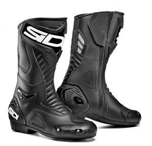 NEU-SIDI-Motorradstiefel-Performer-schwarz-Gr-46-Racing-Stiefel-UVP-199-95