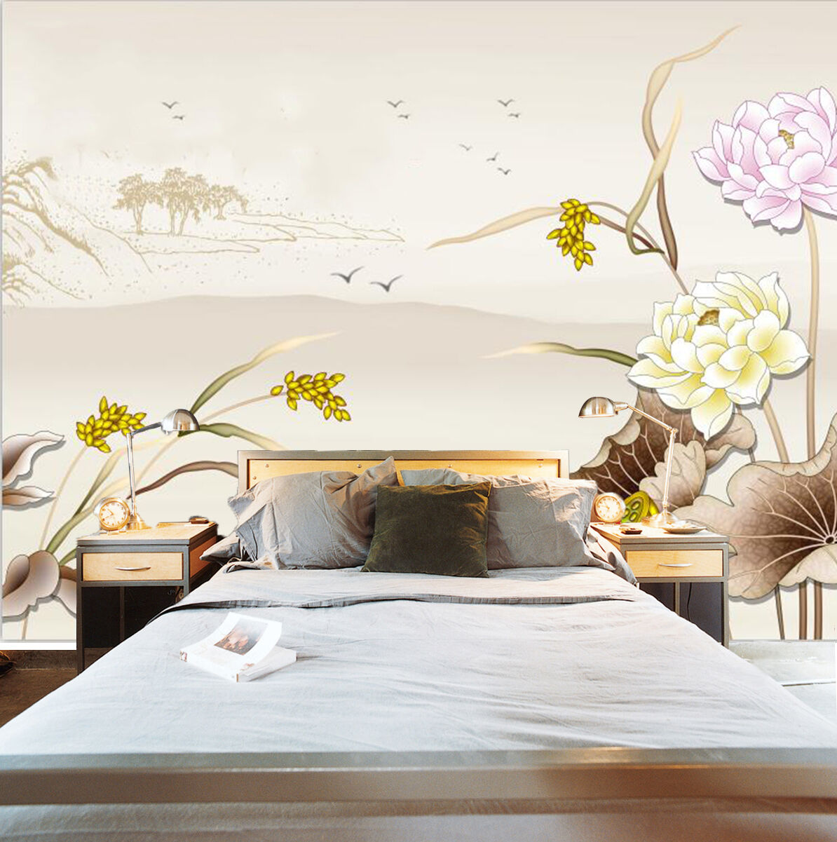 3D Fresh Flower And Birds 03 Paper Wall Print Wall Decal Wall Deco Indoor Murals