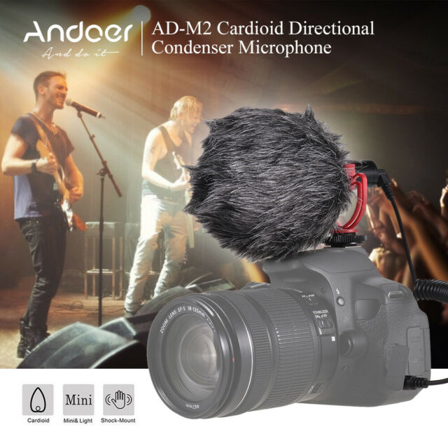 ANDOER AD-M2 UNIVERSAL CARDIOID CONDENSER VIDEO MICROPHONE WITH SHOCK MOUNT Y2M6