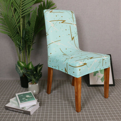 Spandex Printed Fit Stretch Dinning Room Kitchen Seat Cover Chair Slipcover J0D3