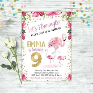 FLAMINGO-INVITATIONS-GIRLS-BIRTHDAY-LUAU-PARTY-POOL-PARTY-FLAMINGO-PARTY-INVITES