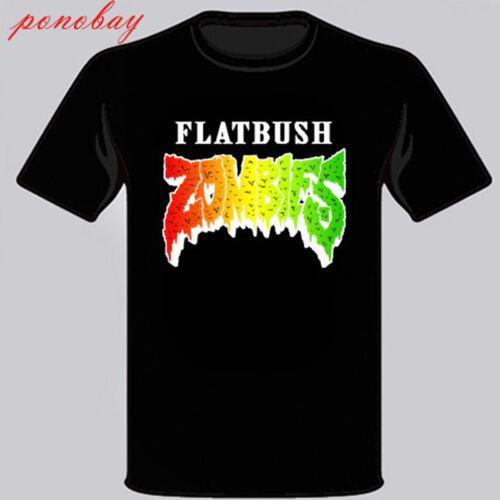 Flatbush Zombies Logo Rap Hip Hop Music Black T-Shirt Size S M L XL 2XL 3XL