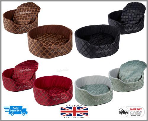 Luxury Soft Round Pet Bed Basket Mattress Mat Cushion Dog-Cat-Puppy-Kitten Large