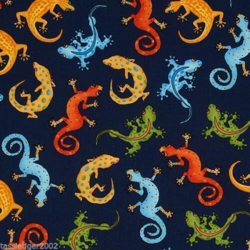 Goofy Geckos Cotton Fabric