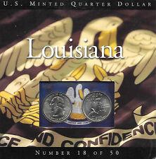 USA Washington Quarter Dollar  2002  D u. P  Luisiana