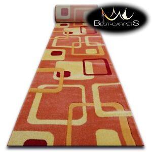 CHEMIN-DE-TABLE-Tapis-FOCUS-F240-orange-moderne-Escaliers-largeur-70-cm-120