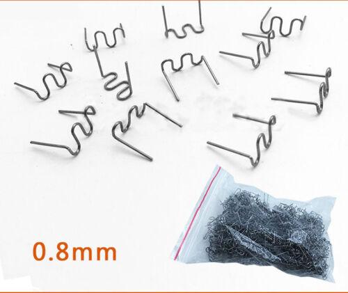 Cut 0.8mm//0.6mm Wave Flat Staples Fashion for Plastic Stapler Repair Welder 100P