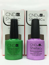 SHELLAC UV GEL- CND -Pick ANY Color/ Base/ Xpress5 Top 7.3ml/.25oz - SET OF 2