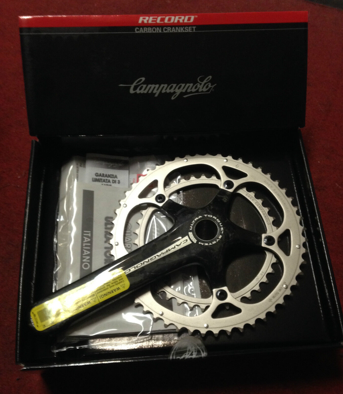 Crankset Campagnolo Record carbon bicicleta 172.5 39-52 10 s made in