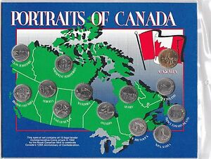 1992-PORTRAITS-OF-CANADA-125th-Anniversary-Of-Confederation-13-Coin-Set