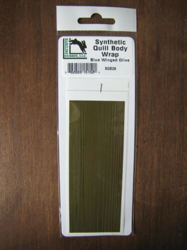 Fly tying Hareline Synthétique Plume Body Wrap-bleu winged Olive