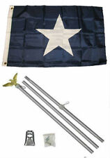 2x3 2'x3' Historical Bonnie Blue Flag Aluminum Pole Kit Set