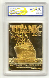 TITANIC-24Kt-Gold-Card-Ship-Boat-Disater-Tragedy-Cruise-Liner-Steam-Sailor-Navy