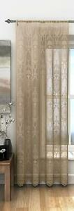 VICTORIA-VICTORIAN-CLASSICAL-LATTE-BEIGE-COFFEE-LACE-VOILE-NET-CURTAIN-PANEL