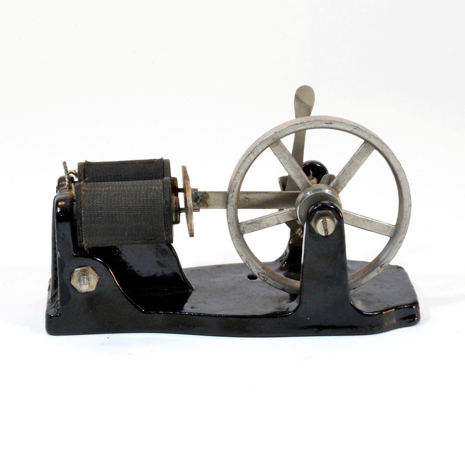 ANTIQUE RARE MINIATURE DUAL COIL HORIZONTAL ENGINE CIRCA 1910