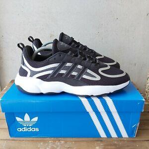 Adidas-Noir-haiwee-Baskets-Taille-8-UK-EU-42-Hommes-Originals-Baskets-RRP-70