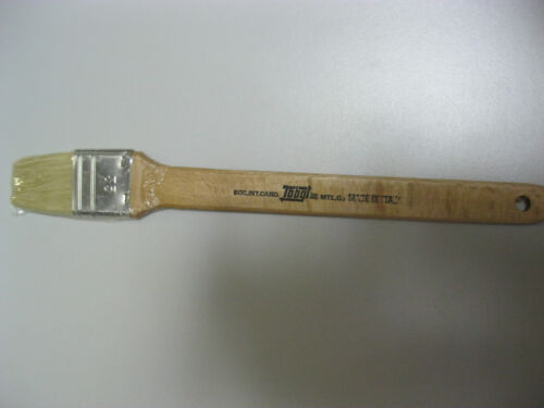 Artist Paint brush White Bristle long handle 35mm Made in Italy