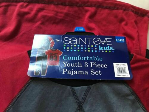 NWT Saint Eve 3-piece Football Pajama set