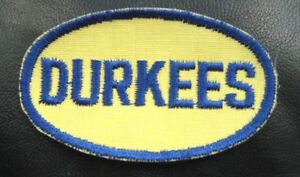 DURKEES-EMBROIDERED-SEW-ON-PATCH-ADVERTISING-UNIFORM-HAT-3-1-2-034-x-2-034