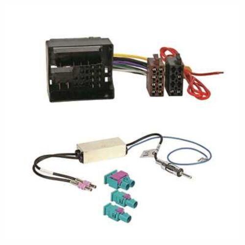 Autorradio adaptador con adaptador de antena FAKRA /> DIN para VW Caddy desde 2015