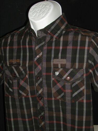 Plaid Original s Algodón Camisa Negro Prinock Botón 100 S brn s Sz 38 Ft Slim tURFxRq