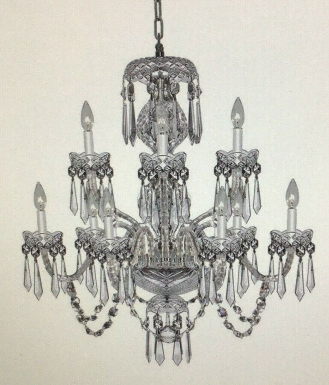 Waterford Crystal Chandelier 9 Arm Cranmore B9 Made In Ireland 1970 S For Sale Online