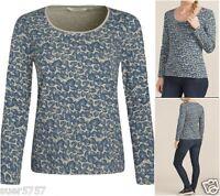 Seasalt Ladies Tianna Foliage Hessian Jersey Casual Long Sleeve Top Size 8 - 20