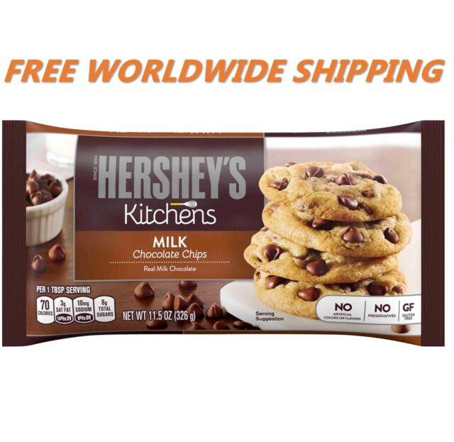 Hershey's Kitchens Milk Chocolate Chips 11.5 Oz WORLDWIDE SHIPPING