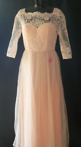 Maxi Occasion Lace Size Dress Tags 12 Uk Chi Premium New Special London tEqw1z