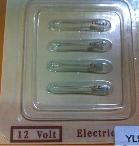 maison de poupées miniature Lighting Pack de 4 Heidi Ott rond 2 mm Bi-pin Ampoules