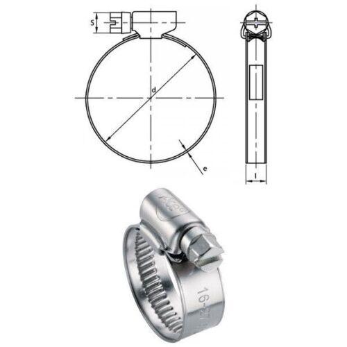Colliers à bande Inox A2 W4 12,15 mm plage de serrage 60 à 80mm par 10