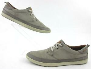 fe5ea923a1 Details about ECCO Collin Nautical Casual Sneakers Natural Light Grey  Leather EU 48 US 14-14.5