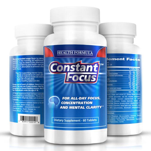 Premium Nootropic Constant Focus | for Memory Concentration & Mental Clarity