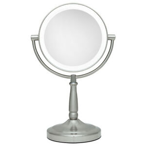 Zadro 10x 1x Super Bright Led Lighted Vanity Magnifying