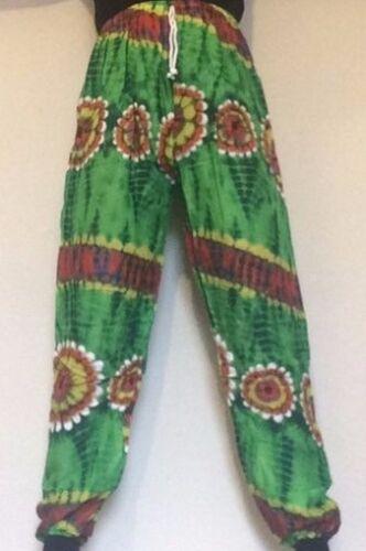 Pantaloni Stile Floreale africano Dashiki ALADINO Festival Comoda Elasticizzata Orlo a manichetta