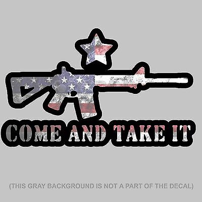 Punisher Skull Decal Gun Rights Sticker 2nd Amendment Come and Take Them NRA USA